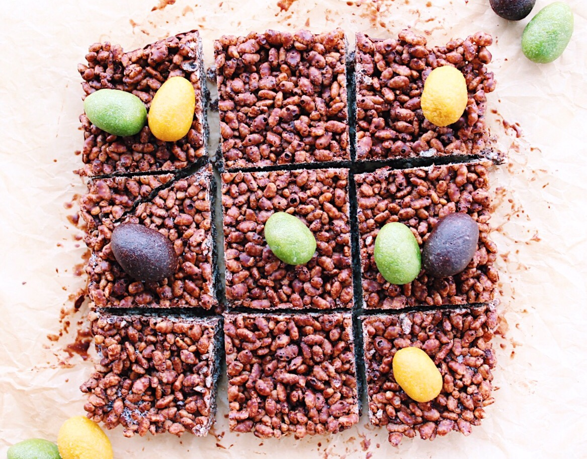 chocolate rice crispy easter treats