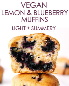 Vegan Lemon Blueberry Muffins