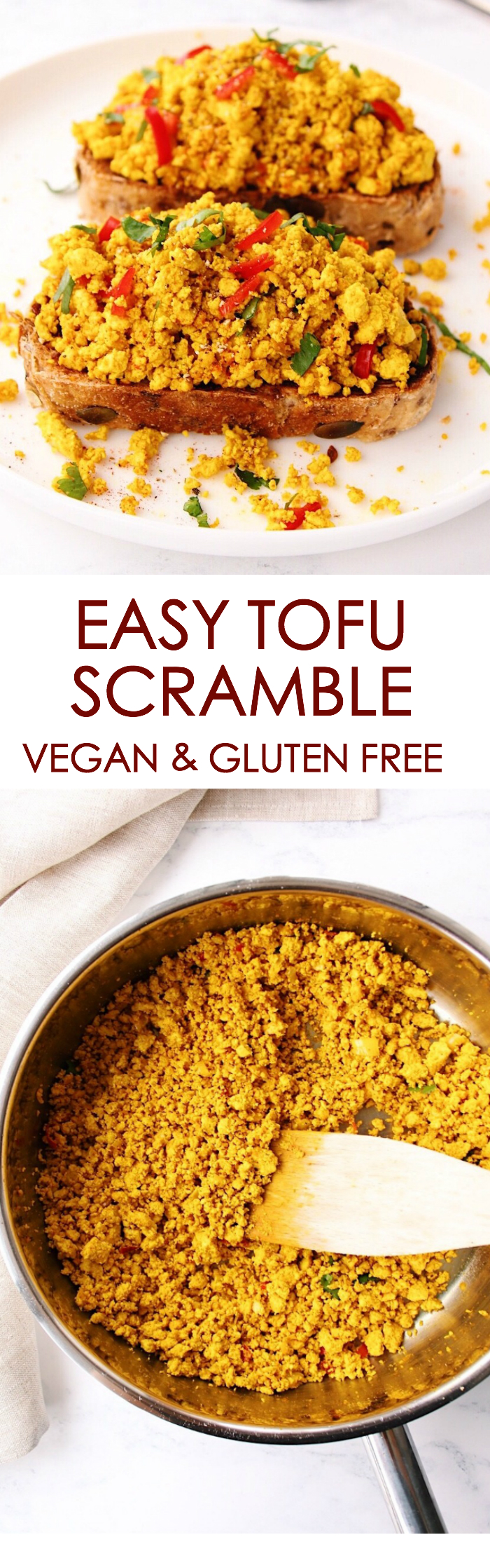 Easy Tofu Scramble {vegan, gluten free}