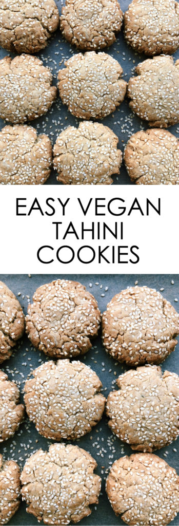 Easy Vegan Tahini Cookies {vegan, gluten free}