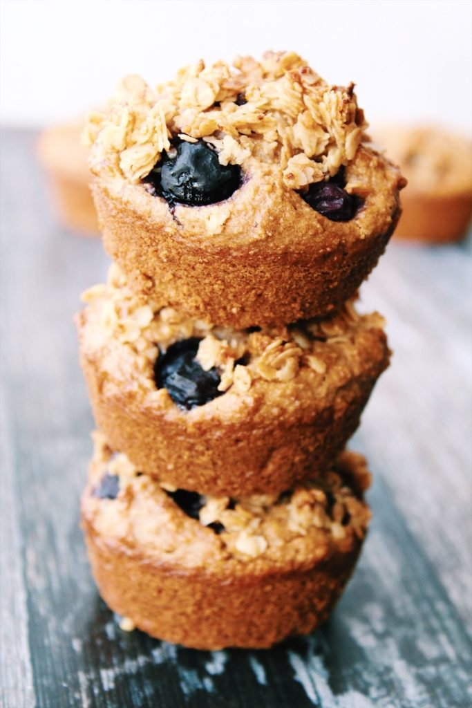 Blueberry Banana Breakfast Muffins {vegan, gluten free}