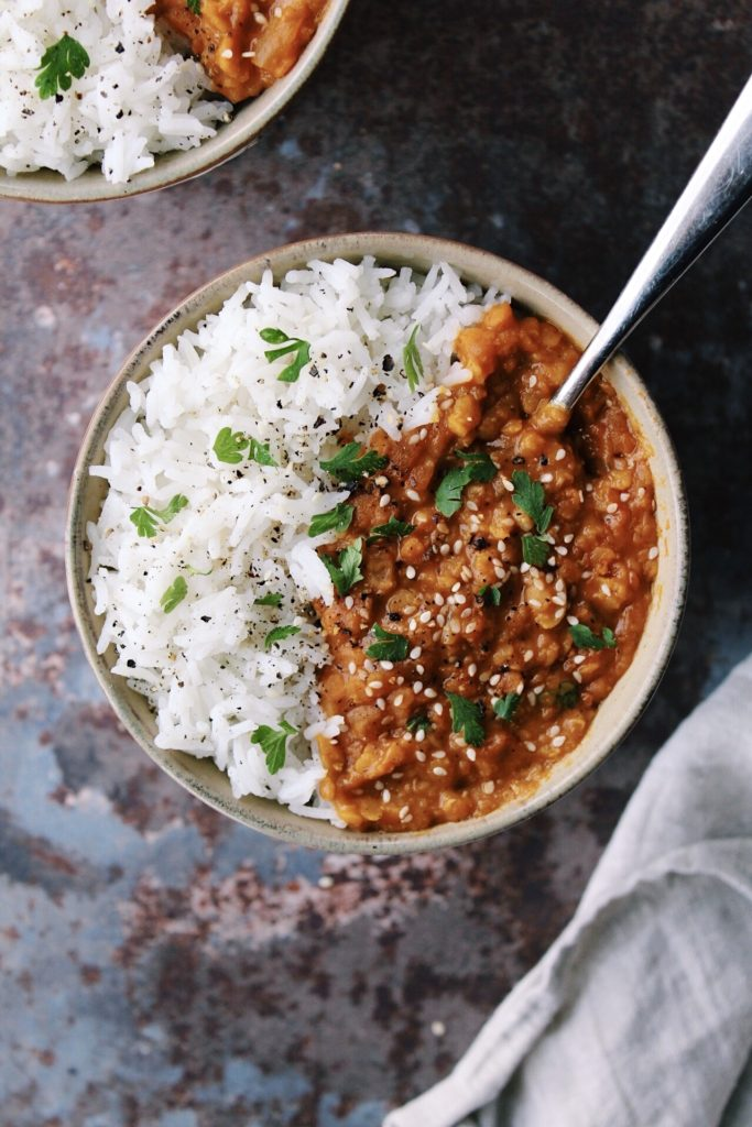 Easy Coconut Lentil Curry {vegan, gluten free}