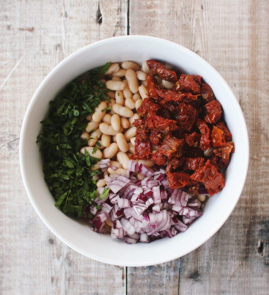 Cannellini Bean & Sundried Tomato Salad {vegan, gluten free}